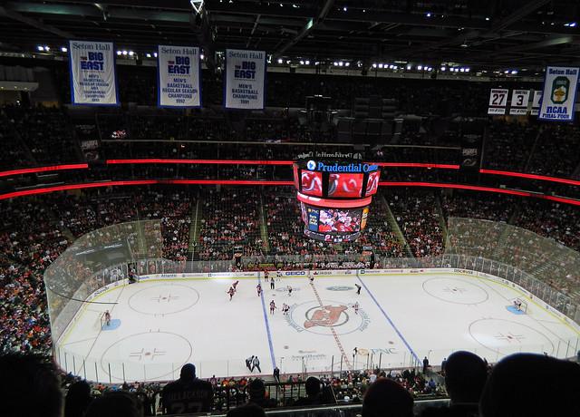 Philadelphia Flyers vs New Jersey Devils at Prudential Center