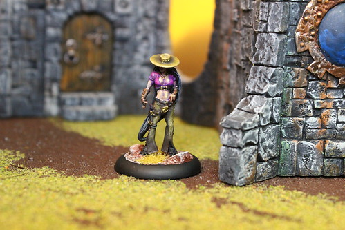Perdita Ortega miniature from the Guild faction of the Malifaux War Game