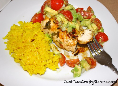 Avocado Tomato Cilantro Chicken