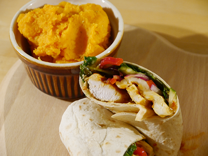 homemade nandos peri peri chicken wrap recipe 7