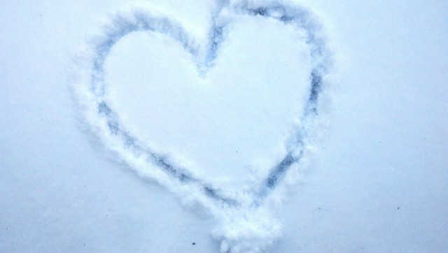 Heart Drawn in Snow, Hickory Hills, Ohio by Lisa Carey on Flickr, February 1, 2013.
