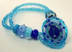 Lampwork Button Bracelet