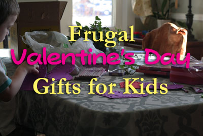 Frugal Valentine's Day Gifts for Kids