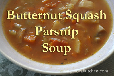 Gingered Butternut Squash and Parsnip Soup
