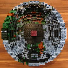 dirks LEGO globe - building up 09