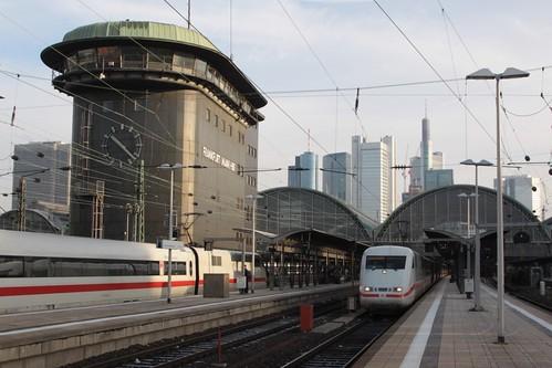 ICE trains at Frankfurt am Main Hauptbahnhof