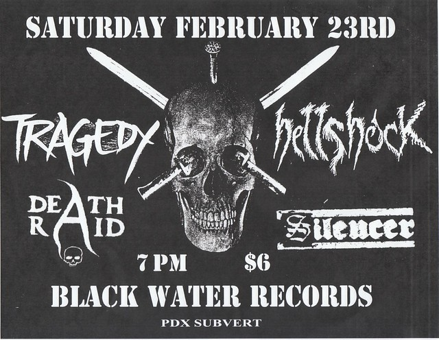 2/23/13 Tragedy/Deathraid/Hellshock/Silencer
