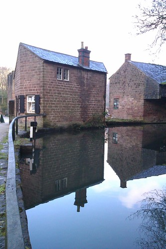 Cromford Canal reflections by Charles Wildgoose