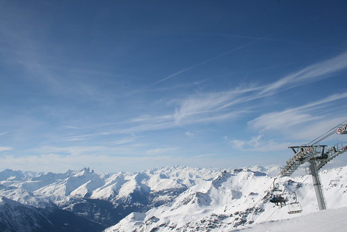 View from the summit of the 3 valleys