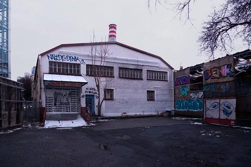 Gebäude Kunstverein Familie Montez leer und ungenutzt. Februar 2013