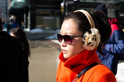 leopard print earmuffs