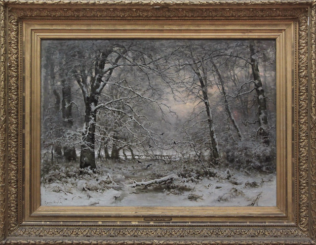 Bos bij winter, Lodewijk Franciscus Hendrik Apol 1875
