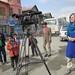 Sally Sara films in Kabul