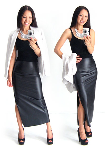 3 Ways to Wear a Leather Skirt