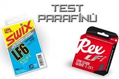 Test parafínů - SWIX LF6 vs. REX LF Black