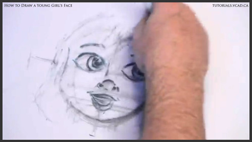 learn how to draw a young girls face 015