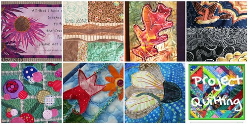 7 quilted creations made for the Project QUILTING annie's Voice Challenge
