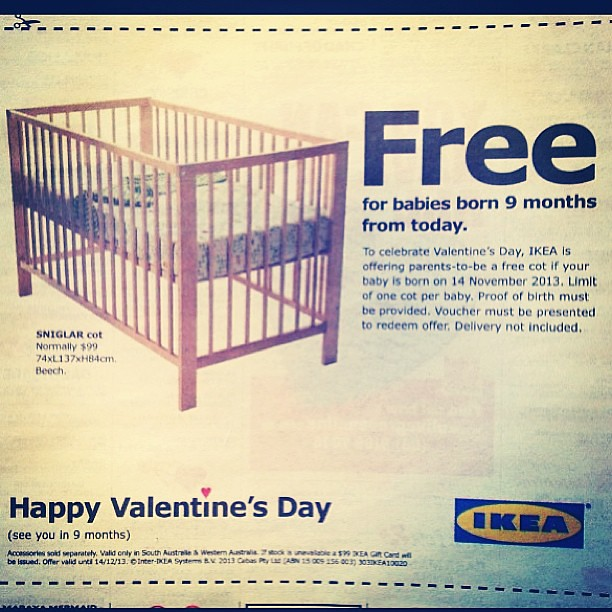 Awesome coupon from ikea valentinesday flickr photo for Coupon mobile ikea