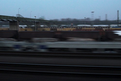 Passing freight wagons in the southern suburbs of Vienna