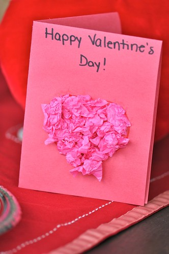 Make a Valentine - tissue paper