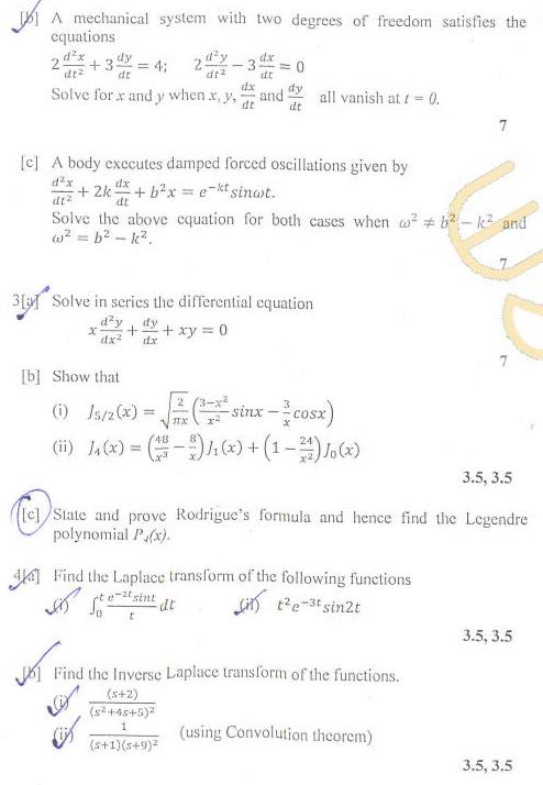 DTU Question Papers 2011 - 2 Semester - End Sem - Group A 2 Semester  Group B 1 Semester