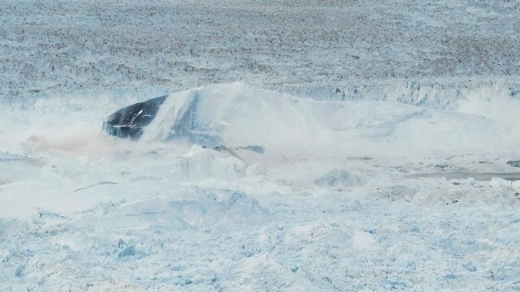 Calving glacier