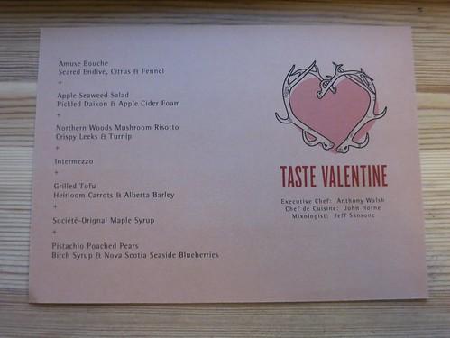 Taste Valentines day