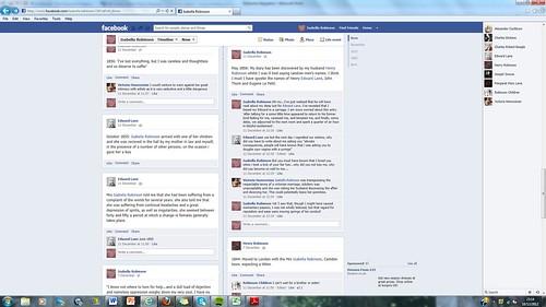 Robinson's FB timeline