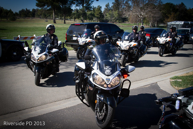 Riverside Police Officer Michael Crain Memorial Service At