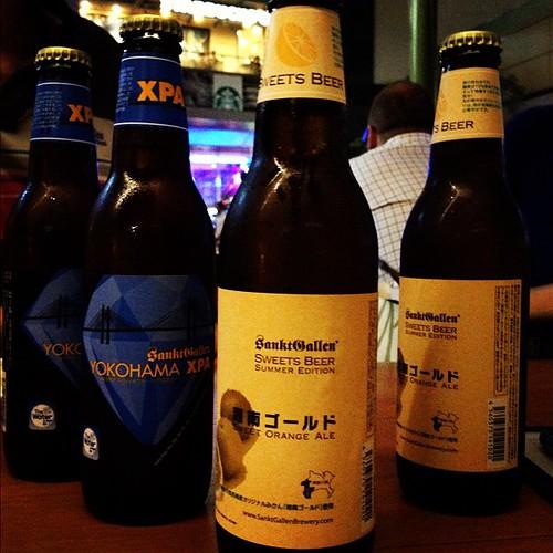 あら、こんな所に湘南ゴールドとXPAが!他にも日本のクラフトビールが色々あります。