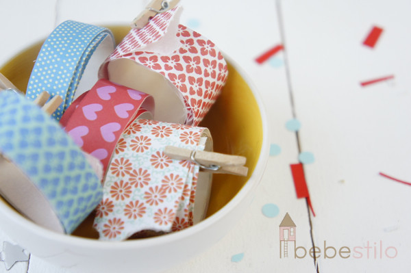 washi tape casero con papel / homemade washi tape paper DIY