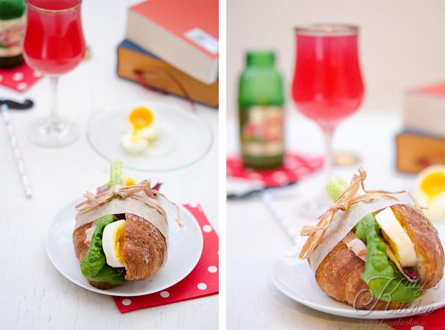 croissant bacon & egg