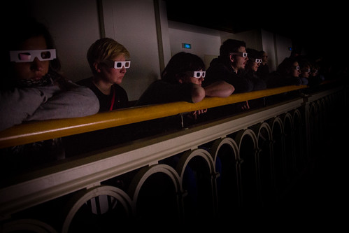People watching 2012 with 3D glasses on