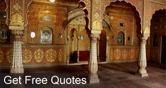 Get free quotes for travelling to India