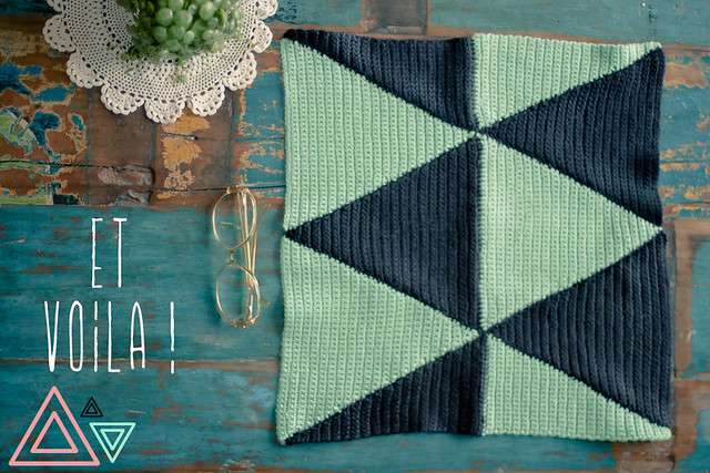 tuto pattern triangle crochet