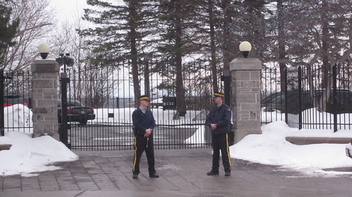 Royal Canadian Mounted Police at the Prime Minister's Residence