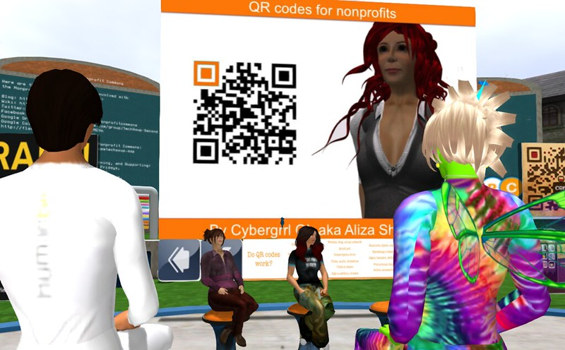 NPC 2/22/13 Feautured Presentation: Aliza Sherman, The Good, The Bad & The Ugly QR Code | Saving the (virtual) world