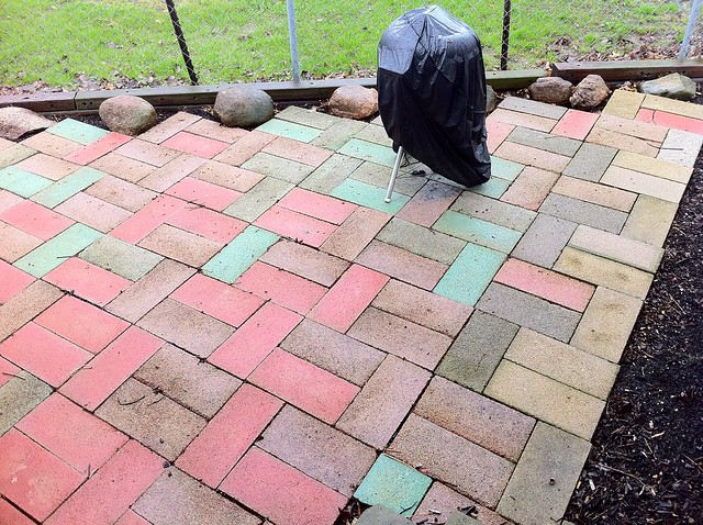 Faux Stone Patio