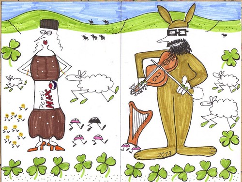 Who can resist a violin-playing hare by Seayard