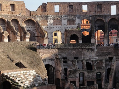 Seating areas of the Colosseum