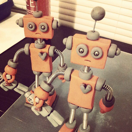 Work-in-progress: The robots have began cloning themselves! by HerArtSheLoves
