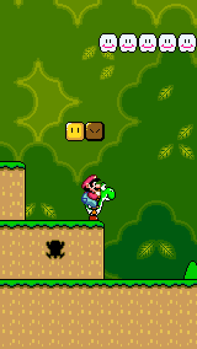 Super Mario World iPhone 5 wallpaper