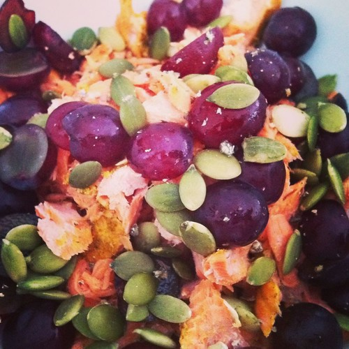 Curried Salmon and Grape Salad