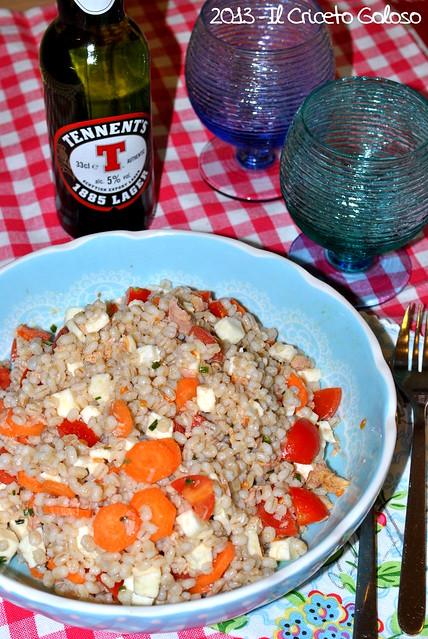 insalata di orzo mozzarella carote tonno pomodori erba cipollina (5)