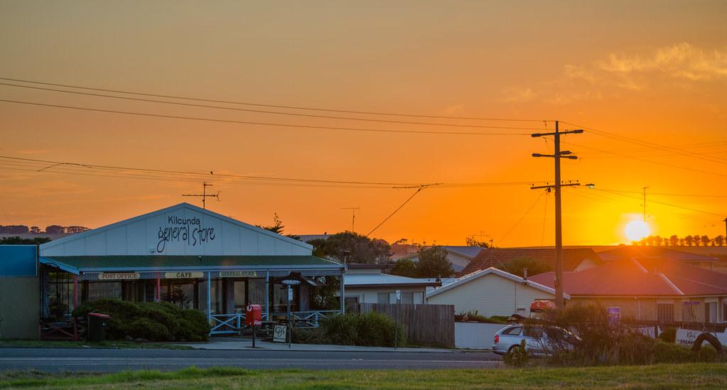 Sunrise over the Kilcunda General Store