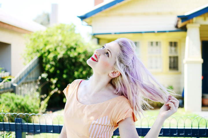 lilac peach hello