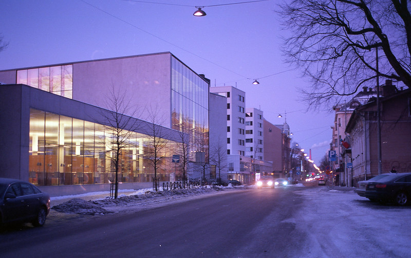Turku new library, early morning