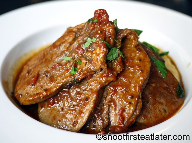 My Kitchen - tender ox tongue in rich wine sauce with tomatoes & herbs P700