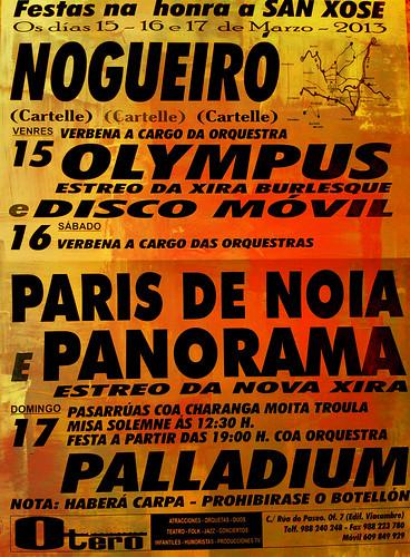 Cartelle 2013 - Festas de San Xosé en Nogueiró - cartel