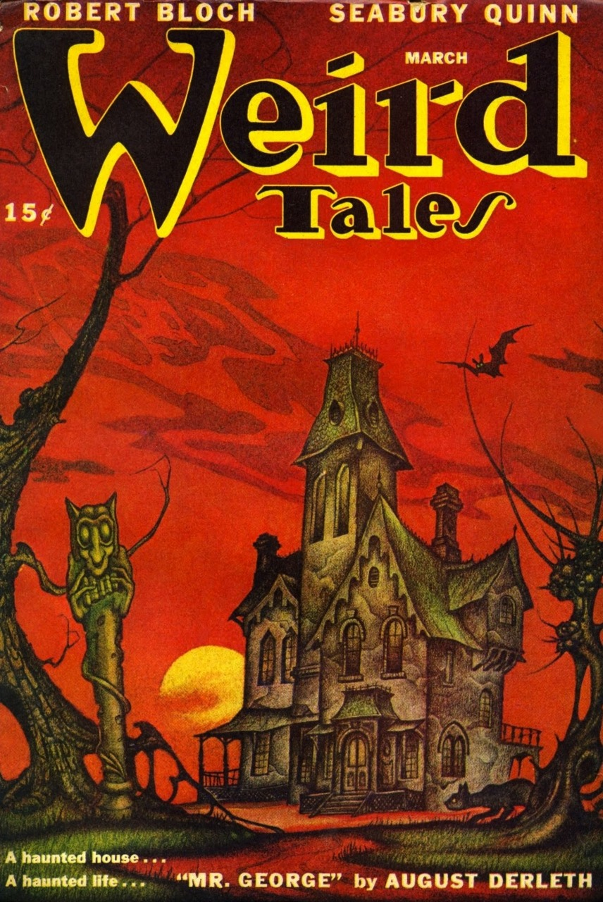 Boris Dolgov - Cover for Weird Tales,Volume 39, Issue 10, 1947